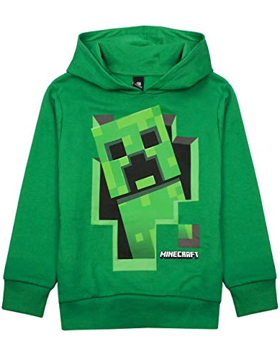 Minecraft Creeper Inside Boy's Green Hoodie (13-14 Years) from Vanilla Underground