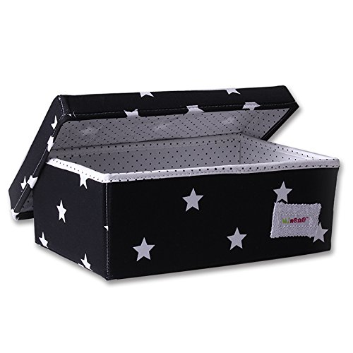 Minene Storage Box (Small, Black With White Star) from Minene