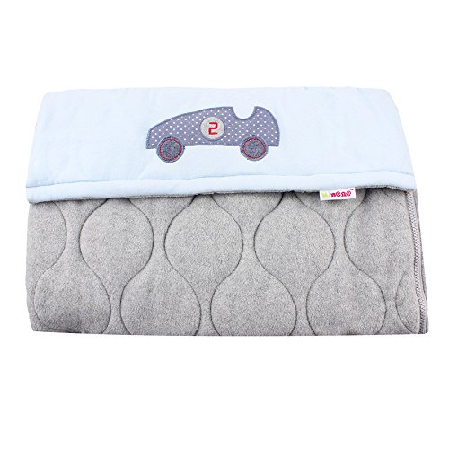 Universal Baby Stroller Cosytoes Liner Buggy Padded Luxury Footmuff -(Grey with Blue Car) from Minene