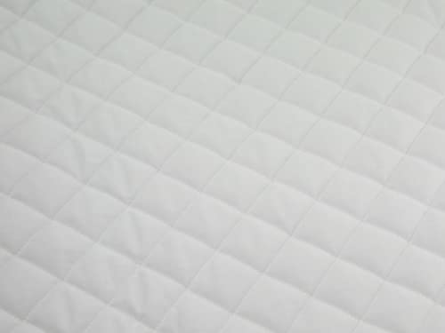 Quilted Polycotton Fabric White - per metre from Minerva Crafts