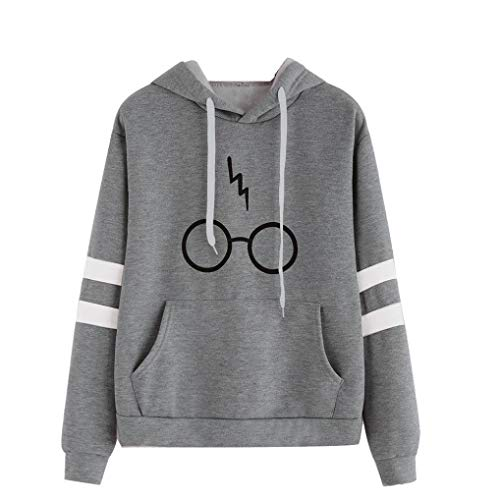 0e54d7446d7 Minetom Women s Autumnn Fashion Long Sleeve Pullover Harry Potter Glasses  Prints Hoodies Hooded Sweatshirt Sweater Tops