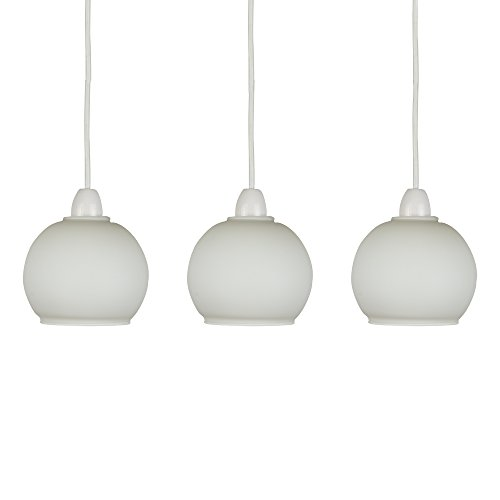 Set of 3 - Classic Style Opal Frosted Glass Dome Ceiling Light Shades from MiniSun