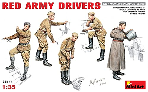 "Miniart 1:35 Scale ""Red Army Drivers"" Plastic Model Kit from Miniart"