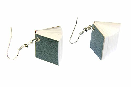 Book Earrings Miniblings Books Book Earrings Bookworm Pages Book Green from Miniblings