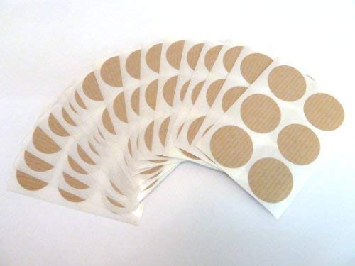 102 Labels, 25mm Diameter Round, Light Brown, Colour Code Stickers, Self-Adhesive Sticky Coloured Dots from Minilabel