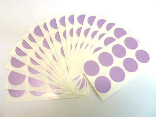 135 Labels, 19mm Diameter Round, Purple, Colour Code Stickers, Self-Adhesive Sticky Coloured Dots from Minilabel