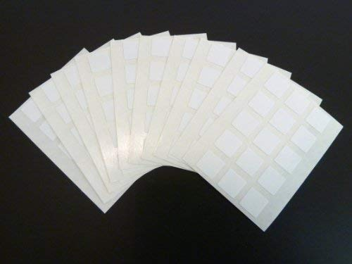 150 Labels, 10x10mm Square, White, Colour Code Stickers, Self-Adhesive Sticky Coloured Labels from Minilabel