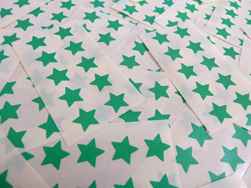 15mm Mid Green Star Shaped Labels, 180 Self-Adhesive Colour Code Stickers, Sticky Stars for Craft and Decoration from Minilabel