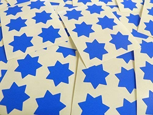 "25mm (1"") Star Shape Colour Code Stickers - Packs of 90 Large Coloured Stars Sticky Labels - 32 Colours Available (Royal Blue) from Minilabel"