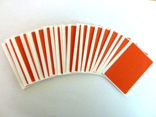 30 Labels, 75x50mm Rectangle, Red, Colour Code Stickers, Self-Adhesive Sticky Coloured Labels from Minilabel