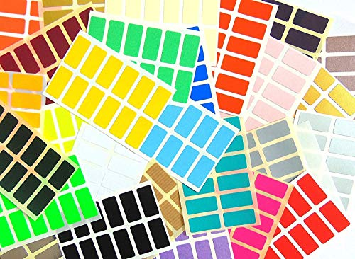336 Labels, 25x12mm Rectangle, Mixed Colour Code Stickers, Self-Adhesive Sticky Coloured Labels from Minilabel