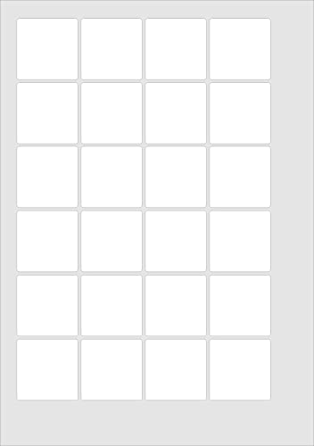 40x40mm Square, 120 Labels, Matt White Paper, 5 A4 Sheets, Laser Copier Inkjet Stickers from Minilabel
