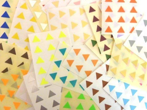 420 Labels, 10mm Triangle, Mixed Colour Code Stickers, Self-Adhesive Sticky Coloured Labels from Minilabel