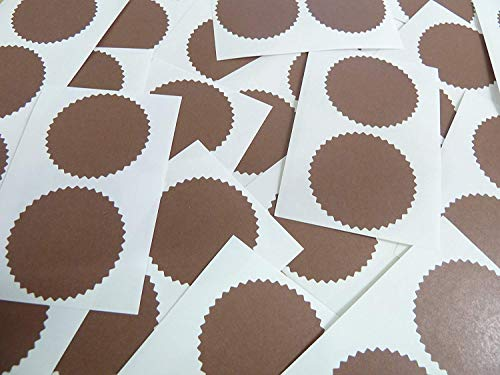 42mm Serrated Edge, Bronze, Certificate Wafer Company Seal Labels, Stickers for Embossing, Awards & Rewards from Minilabel
