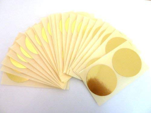50 Labels, 50mm Diameter Round, Shiny Gold, Colour Code Stickers, Self-Adhesive Sticky Coloured Dots from Minilabel