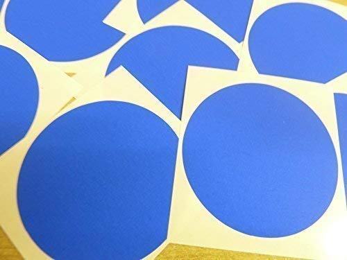 "65mm (2.6"") Round Circular Colour Code Stickers - Packs of 25 Large Coloured Circles, Sticky Labels - 32 Colours Available (Royal Blue) from Minilabel"