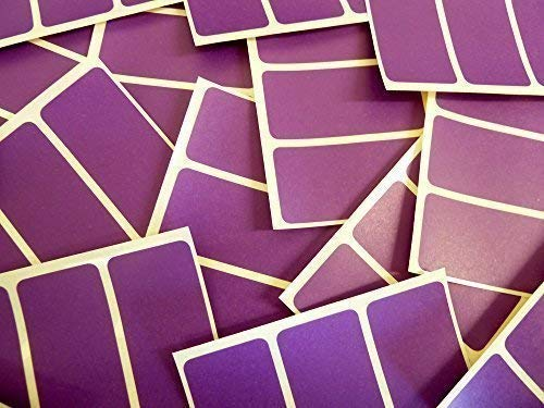 65x30mm Rectangular Colour Code Stickers - Packs of 45 Coloured Rectangle Sticky Labels - 30 Colours Available (Dark Purple Violet) from Minilabel