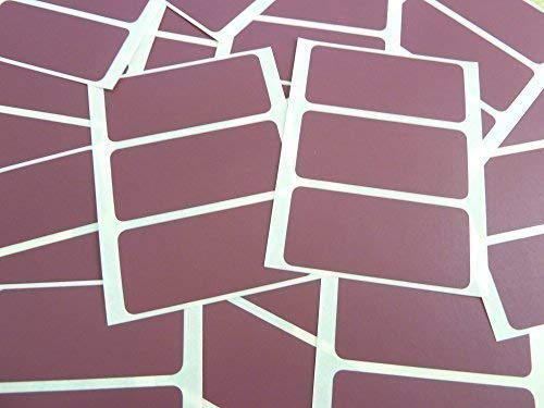 65x30mm Rectangular Colour Code Stickers - Packs of 45 Coloured Rectangle Sticky Labels - 30 Colours Available (Maroon) from Minilabel