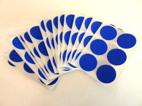 80 Labels, 25mm Diameter Round, Royal Blue, Plastic/Vinyl Colour Code Stickers, Self-Adhesive Sticky Coloured Dots from Minilabel