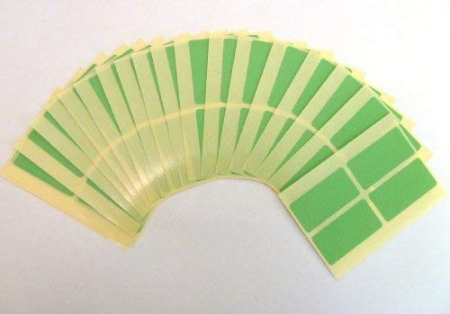 80 Labels, 40x20mm Rectangle, Light Green, Removable/Low Tack Colour Code Stickers, Self-Adhesive Sticky Coloured Labels from Minilabel