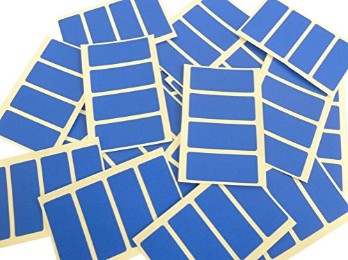 80 Labels 50x20mm Rectangle, Royal Blue Colour Code Stickers, Self-Adhesive Sticky Coloured Labels from Minilabel
