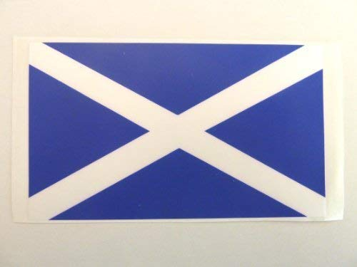 Mini Sticker Pack, 99x58mm Rectangle, Durable Plastic Scotland Self-Adhesive Flag Window Sticker, St Andrews Cross Label from Minilabel