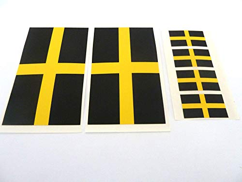 Pack of 6 Vinyl, Plastic St David Flag Self-Adhesive Stickers, St David's Cross Labels from Minilabel