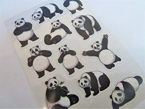 Panda Stickers Kids / Childrens Labels for party bags , scrap books , card making or notebook decoration from Minilabel