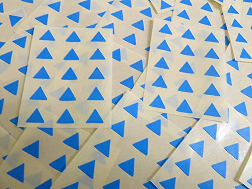 Small 10mm Triangular Mid Blue Colour Code Stickers, 150 Self-Adhesive Triangle Triangles Sticky Coloured Labels from Minilabel