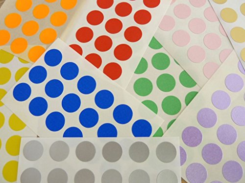 Small Round 13mm (0.5 inch) Circular Coloured Sticky Labels, Colour Code Dot Stickers - 10 Mixed Colours (360) from Minilabel