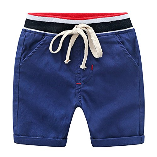 Minuya Boys Shorts, Summer Kids Cotton Pants Elastic Waist Trouser for 2-7 Years Old from Minuya
