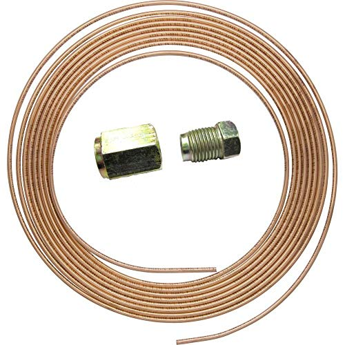 "3/16"" X 25 FT 7.5MTR 22G COPPER BRAKE PIPE + 10 NUTS from Misc"