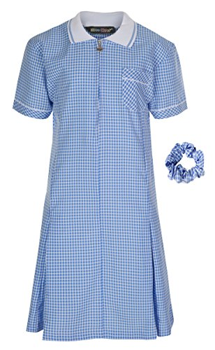Girl's School Gingham Summer Dress Age 3 4 5 6 7 8 9 10 11 12 13 14 15 16 17 18 20 from Miss Chief