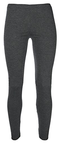 Miss Chief Girls Plain Legging Full Length (Ages 2 3 4 5 6 7 8 9 10 11 12 13 + Adult Sizes) Dance Stretch Teen (Charcoal) from Miss Chief