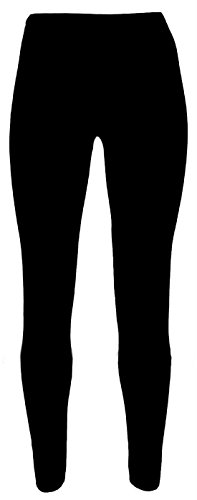 Miss Chief Girls Plain Legging Full Length (Ages 2 3 4 5 6 7 8 9 10 11 12 13 + Adult Sizes) Dance Stretch Teen (Jet Black) from Miss Chief