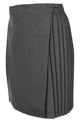 "Miss Chief Girls School Gym Skirts P.e. Netball Sports Kilt Knife Pleats Wraparound Skirt (22"" - 40"" Waist) Grey from Miss Chief"