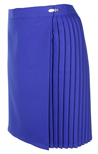 "Miss Chief Girls School Gym Skirts P.e. Netball Sports Kilt Knife Pleats Wraparound Skirt (22"" - 40"" Waist) Royal Blue from Miss Chief"