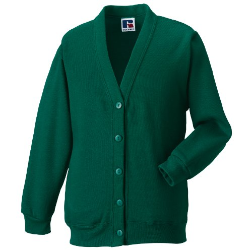 Miss Chief Ladies Fleece Cardigan Sweatshirt (S, M, L, XL, XXL) Bottle Green from Miss Chief