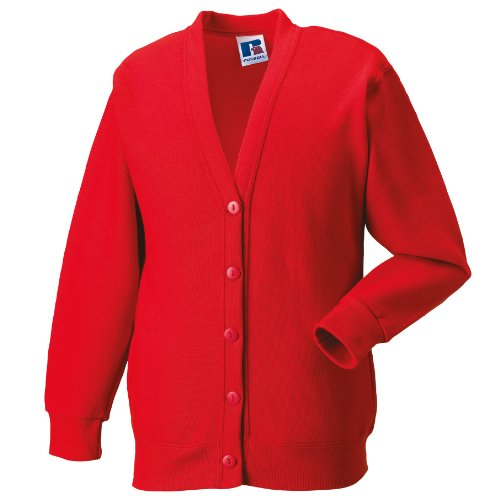 Miss Chief Ladies Fleece Cardigan Sweatshirt (S, M, L, XL, XXL) Red from Miss Chief
