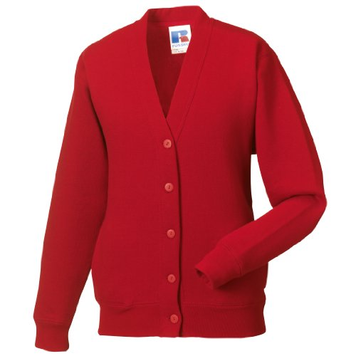 Miss Chief Ladies Fleece Cardigan Sweatshirt (S, M, L, XL, XXL) Scarlet Red from Miss Chief