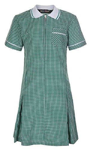 Miss Chief - Girl's School Pleated Gingham Summer Dress + Scrunchie Age 3 4 5 6 7 8 9 10 11 12 13 14 15 16 17 18 20 Green from Miss Chief