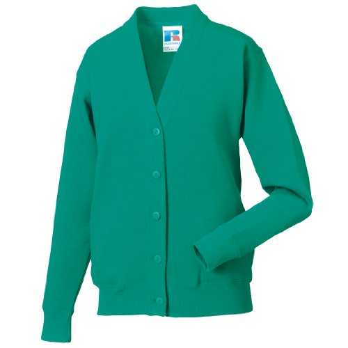 Miss Chief Ladies Fleece Cardigan Sweatshirt (S, M, L, XL, XXL) Jade Green from Miss Chief