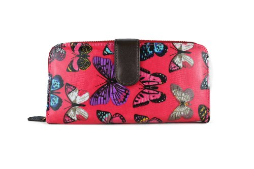 Miss Lulu Womens Oilcloth Purse Wallet Butterfly Plum L1109B PM from Miss Lulu