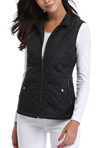 MISS MOLY Women's Gilet Lightweight Bodywarmer Sleeveless Jacket Black Large from MISS MOLY