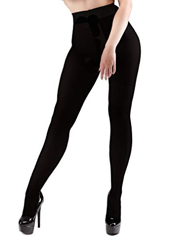 0a58d5cb08 Miss Naughty 100 Denier Opaque Crotchless Tights One Size Black from Miss  Naughty