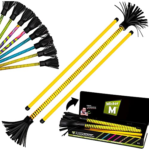 "Mister M ✓ ""The Ultimate Flowerstick Set"" / CE Tested / Collapsable Flowerstick + Collapsable Sticks + Online Video (Blue) (yellow) from Mister M"