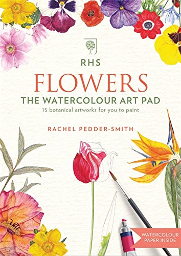 RHS Flowers The Watercolour Art Pad from Mitchell Beazley