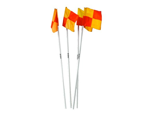 Mitre A9110 Corner Flags (Set of 4), White, 15 inch from Mitre