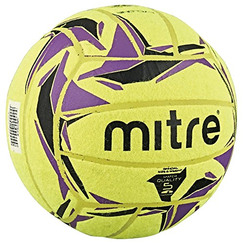 Mitre Cyclone Indoor Football Without Ball Pump, Yellow (Yellow/Black/Purple), Size 5 from Mitre