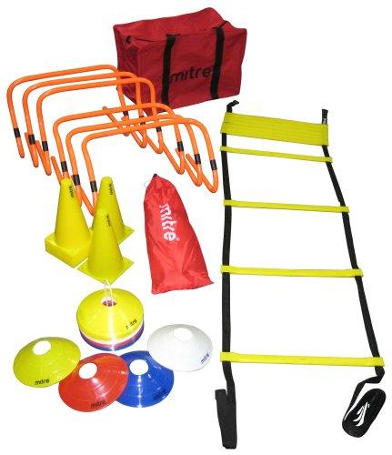 Mitre Football Training Kit with Agility Ladders, Hurdles and Cones from Mitre